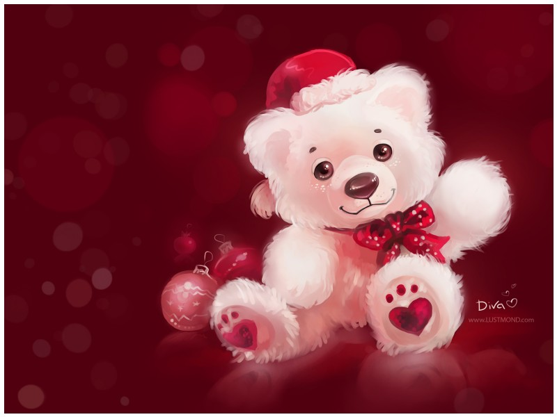 Givani.net - Wallpapers • Обои - Xmas Bear