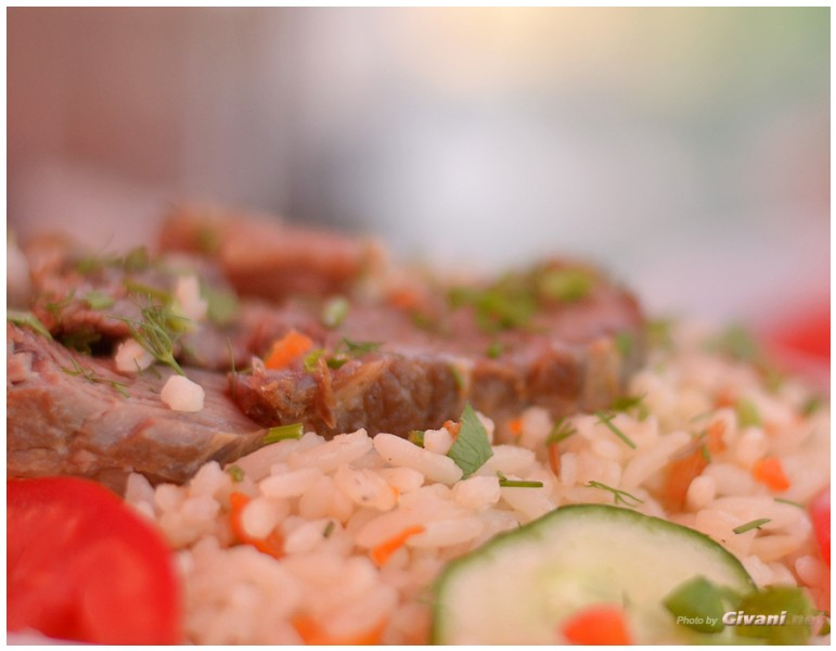 Givani.net - Food Photo • Еда фото - Pilaf with meat • Плов с мясом