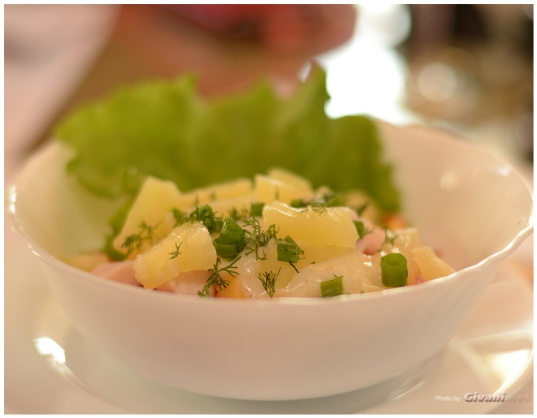 Givani.net - Food Photo • Еда фото - Ananas salad • Салат из ананасов